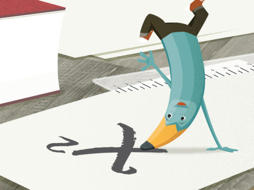 Mr. Pencil Warehouse Stationary Character