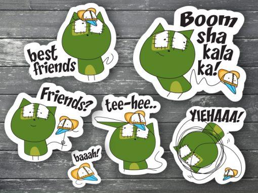 Katzefratze Smartphone Stickers