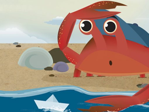 Cuppy the Crab – Children's Book Illustrations