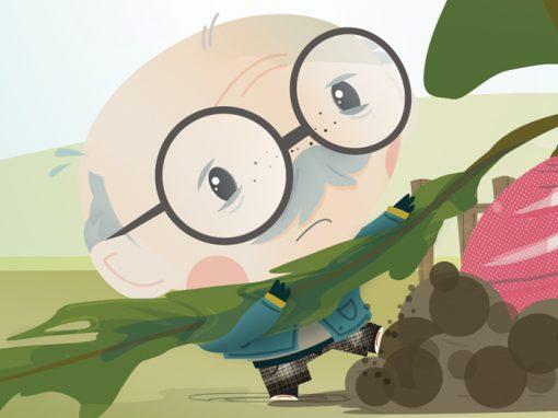 The Gigantic Turnip – Children's Book Illustrations